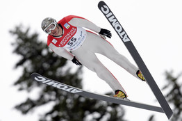Todd Lodwick at a Nordic Combined in France in January.